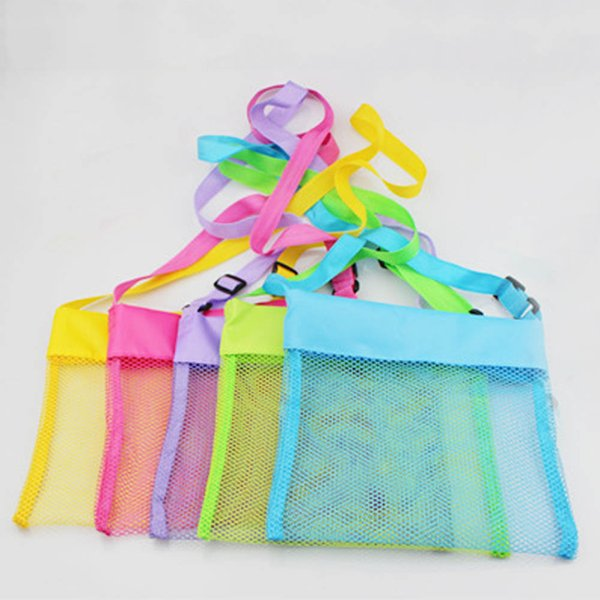 28d4423186180 Summer Mesh Beach Bag Pack Pouch Box Tote Portable Carrying Toys Beach Ball  Organizadores Toy Kid Hot Sale