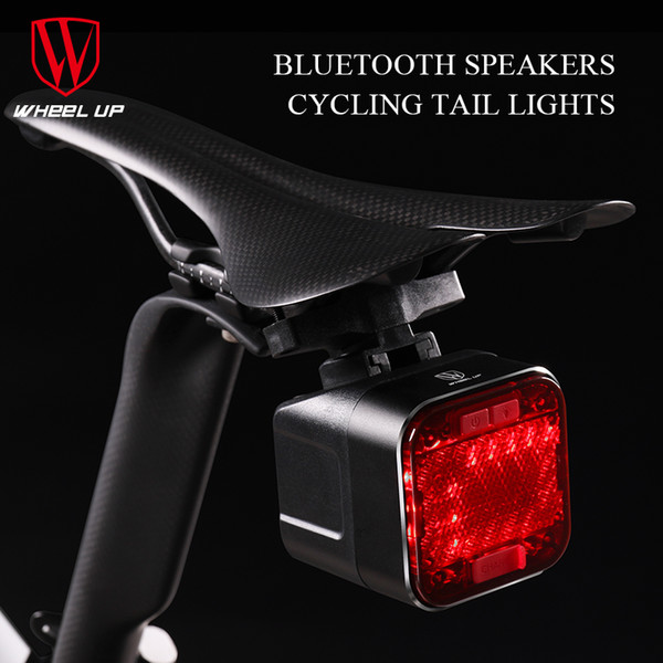 WHEEL UP USB Rechargeable Bicycle Light LED Bike Cycling Waterproof Taillight Bluetooth Speaker Safety Night Riding Rear Light