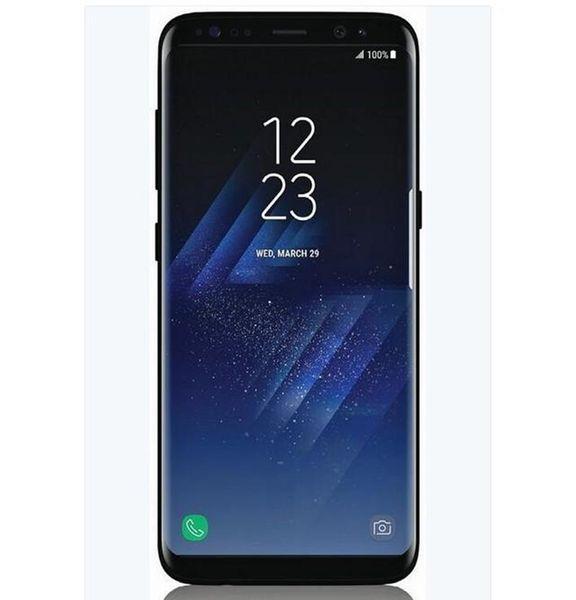 Best 6 2inch Goophone S8 Plus S8 Smartphone 4G RAM 64G ROM Android  Fingerprint Curve Screen Show Octa Core 4G LTE Unlocked Cell Phone Flip  Mobile