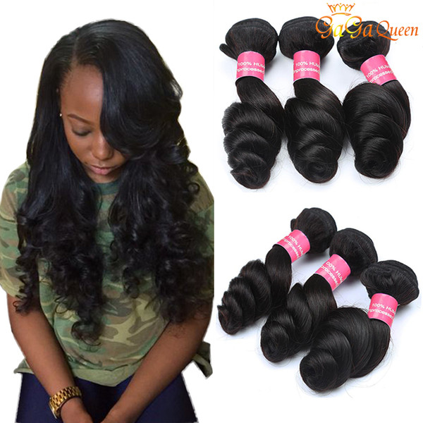 Brazilian Virgin Hair Loose Wave Bundles Unprocessed Brazilian Loose Wave Hair Cheap Human Hair Extensions Nature Color