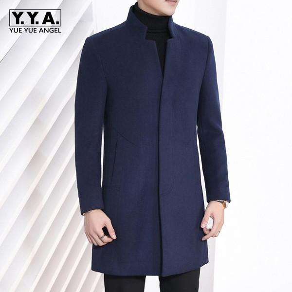 Großhandel Mantel Business Plus Von Neue Größe Stehkragen Slim Winter 4xl 2018 Herren Lange Fit Casual Graben Wollmischungen Outwear Mode dBeCxo