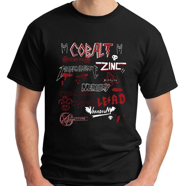 Novas Opiniões sobre Heavy Metal (química) T-Shirt dos homens Negros Tamanho S-3XL T Camisa de Desconto 100% Algodão Camiseta para Homens