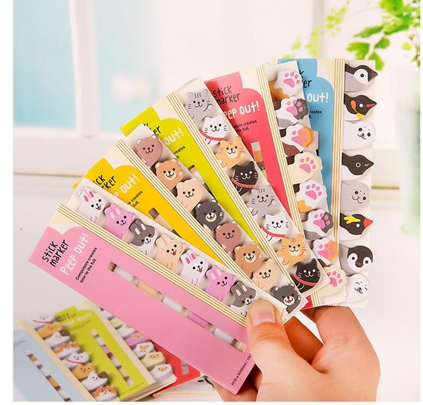 Panda Cat Penguin Claw Rabbit Memo Pads Sticky Notes Planner Writing Student Paper Stationery Notepad School Office Supply