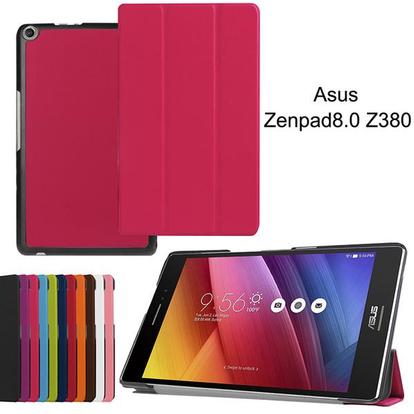 Smart Cover for Asus Zenpad 8.0 Z380 Z380C Z380KL Tablet PU Leather Protective Skin Shell Folding Flip Case+Stylus