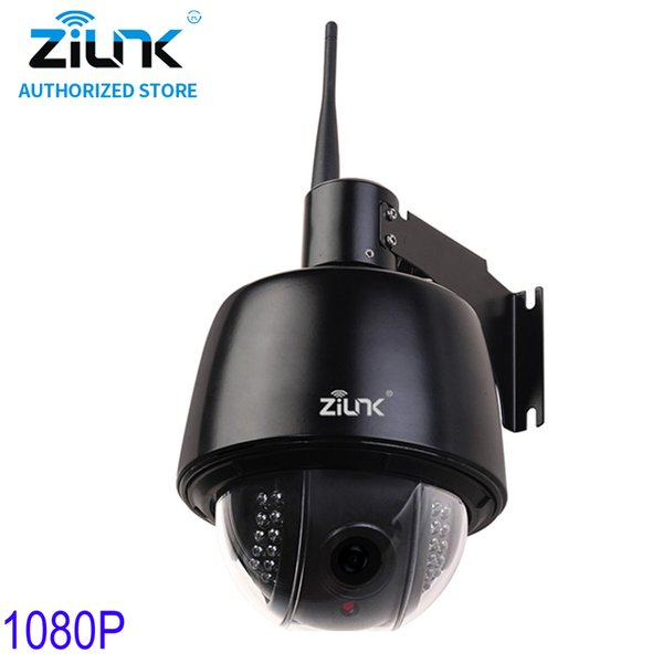 ZILNK 1080P Full HD PTZ Speed Dome 5x Optical Zoom Waterproof WiFi IP Camera Support TF Card Motion Detection ONVIF H.264 Black