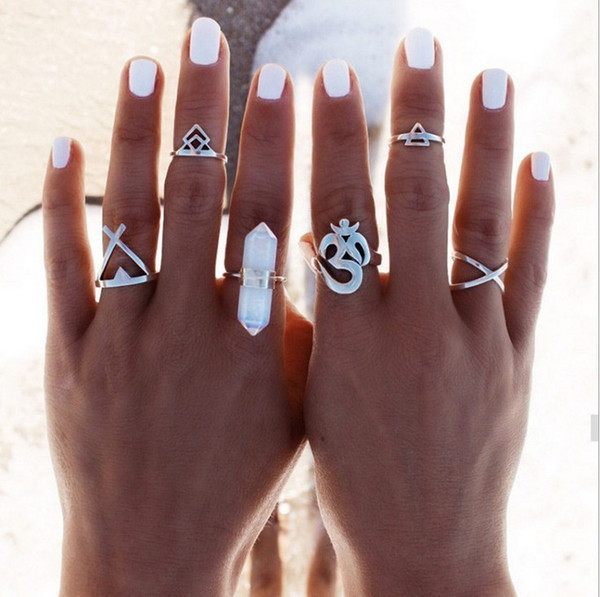 Fashion multi-piece set alloy ring Instagram hipsters posing silver jewelry Yiwu accessories wholesale
