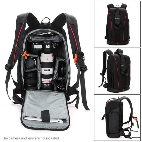 DSLR sac à dos caméra vidéo résistant à l'eau sac antichoc photographie rembourré pour accessoires d'objectif appareil photo reflex numérique