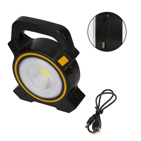 Powerful Solar COB LED Work Inspection Light 2-modes USB Charging Floodlight Lantern Emergency Spotlight Hiking Tent Lamp