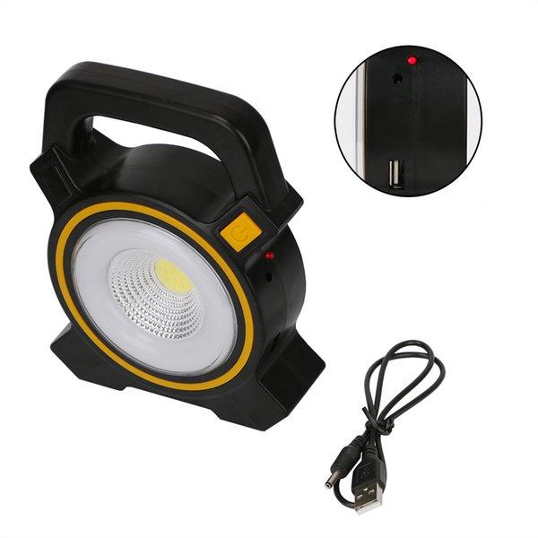 Leistungsstarke Solar COB LED Arbeitsinspektionslicht 2-Modi USB Lade Flutlicht Laterne Notfall Scheinwerfer Wandern Zelt Lampe