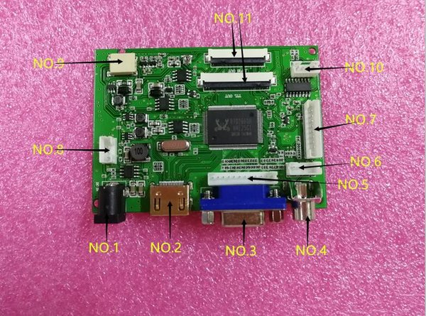 Audio + HDMI + VGA + 2AV +Video, HSD050IDW1 kd50g21-40nt-a1 LCD panel driver board.
