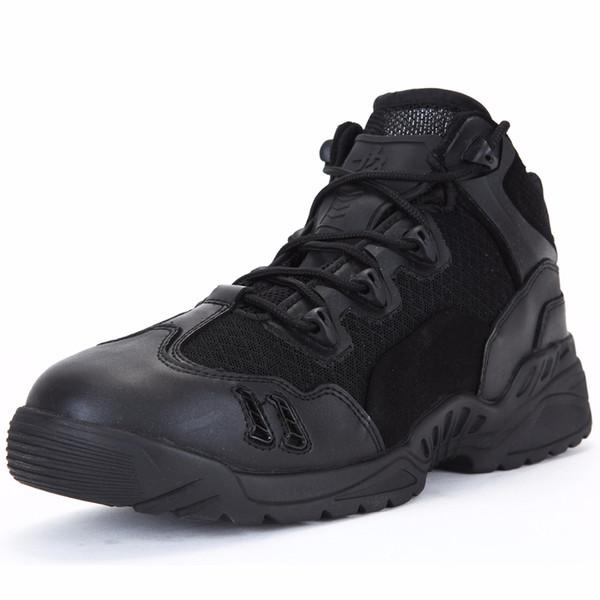 Zapatos de senderismo PAVEHAWK Botas de combate de tobillo bajo para hombres Deportes al aire libre Zapatillas de deporte Uniforme de asalto Botas de cuero tácticas