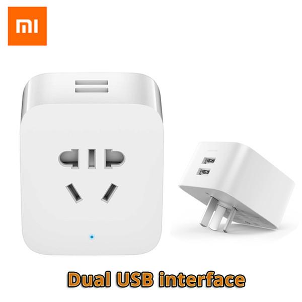 Original Xiaomi Mi Smart Socket WiFi Plug Control Power Count Timer Switch Dual USB with AU/US/EU/UK Adapter Original Xiaomi Mi Smart