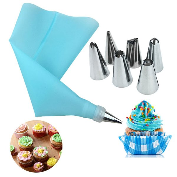 Silicone Icing Piping Cream piping bag and pastry nozzles cookies cupcake DIY Cake Tip Set Bakeware cake decorating tools