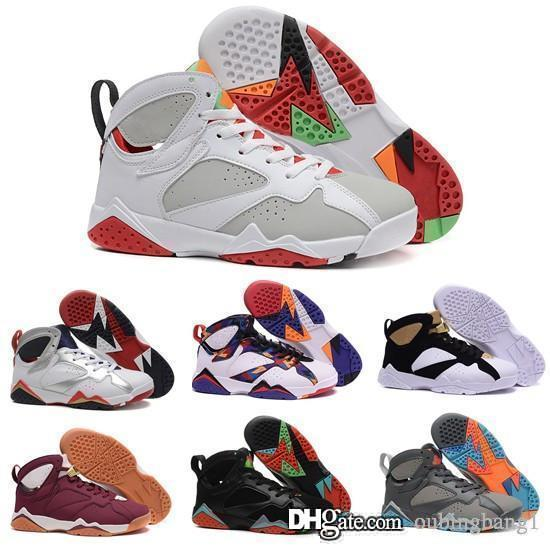 2018 new real 7 7s men basketball shoes online originals best quality sneakers US size 8-13 with box free shipping