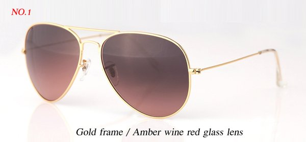 gold/amber wine red lens