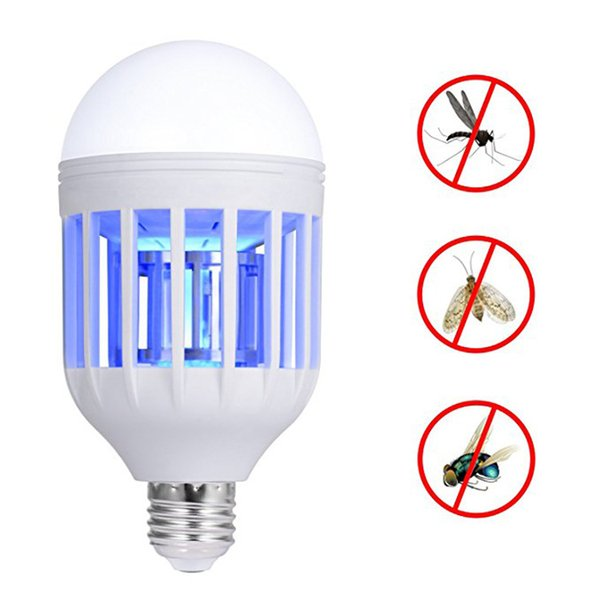 LED Anti-Mosquito Bulb Zapp Light Dual LED Lightbulb E27 Screw Mouth High Power LED Round Head Energy-saving Zapp Light Bulb Kill Mosquitos