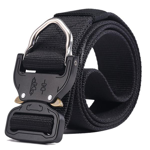 Combat Heavy Duty Knock Off Tactical Belt Men US Soldier Equipment Belts Sturdy Hook Nylon Waistband 3.8cm(1.5 '')
