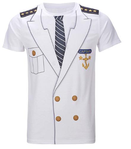 Men 3D T Shirt Adult Man Cowboy Sheriff Police Captain Cosplay Halloween Gentleman Party Costume Clothing Top S-XXXXXXXXL U743