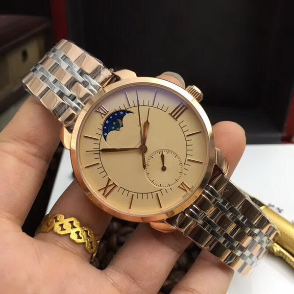 Two tone belt back glass automatic 42MM CASE best-selling AAA men watch wholesale luxury brand new Stainless steel mens watches