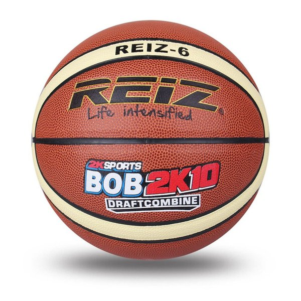 top popular REIZ High Quality Size 6 leather Basketball Balls Outdoor Indoor Mens Training Basket Ball Basquete New Style 2021