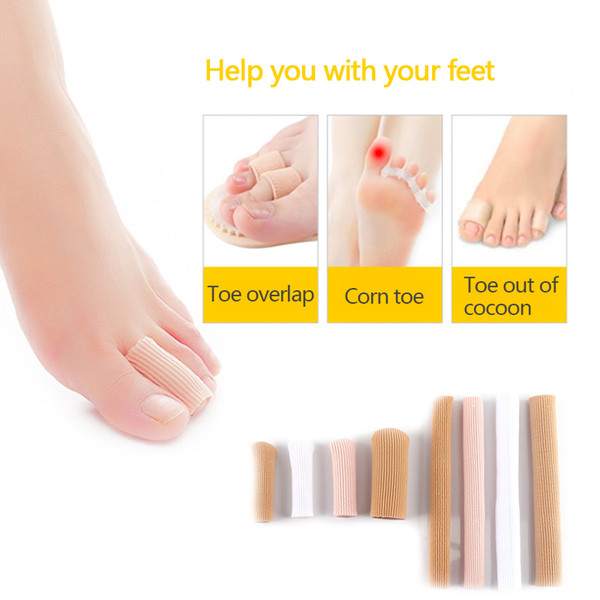 15cm Feet finger corrector Insoles Fabric Gel Silicone Tube Bunion Toes Fingers Separator Divider Protector Corns Calluses