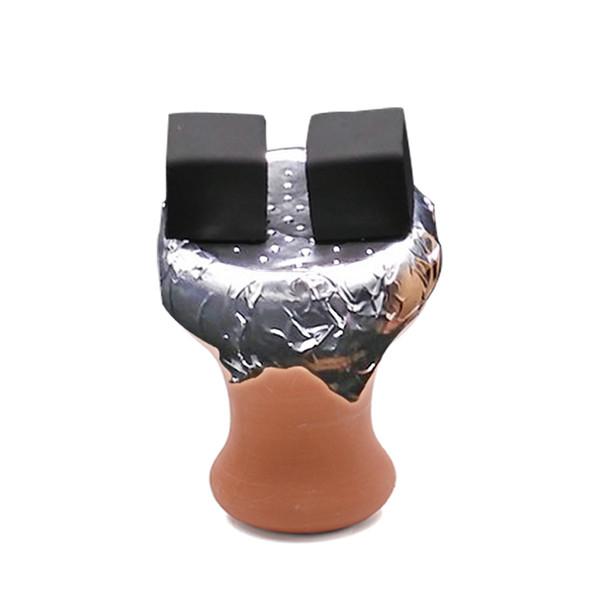 2pcs Clay Hookah Bowl Ceramic manual Hot Ceramic Female Shisha Tobacco Bowl, Hookah Water Pipe Sheesha Chicha Narguile Accessories