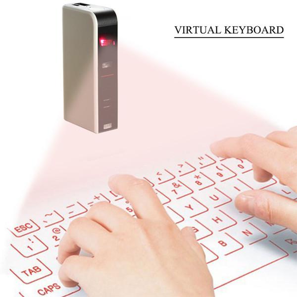 Clavier sans fil de Bluetooth de projection virtuelle officiel de mini clavier de laser pour des tablettes / iPad / iPhone / téléphones intelligents d'Android
