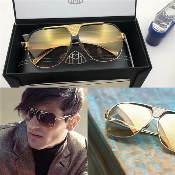 Лучшие роскошные золотые очки для мужчин и мужчин марки Maybach дизайнерские очки Pilot titanium frame top количество наружных солнцезащитных очков uv400 B-G-B-Z15