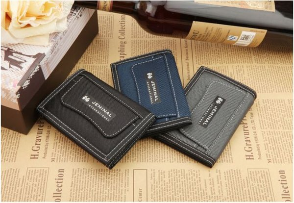 Mens canvas wallets Purses credit card holders outdoor sports portable three folding short cross high quality money clips free shipping