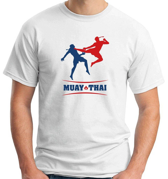 Camiseta Tam0135 Muay Thai 100% algodón Hombres divertidos Camiseta 2018 Nueva llegada Camiseta de manga corta Top Envío gratis
