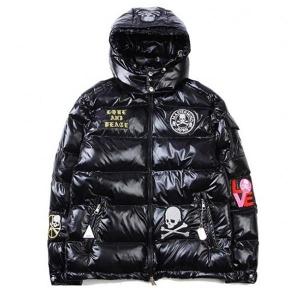 Mode Hohe Qualität Marken Warme Ski Winterjacke Herren Designer Mantel Stickerei Jacken für Männer Anorak Padded Parkas Dicke Daunenjacke