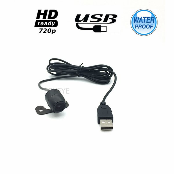 CCTV Security USB 2.0 Interface 1280*720P HD CMOS 2.8mm Wide Angle Lens Waterpoof Super Mini USB Car Reverse Camera