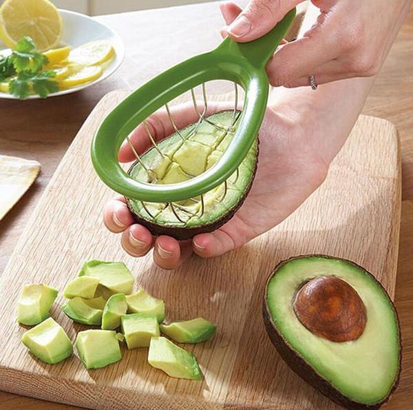 Avocado Slicer Cuber Tool Melonenschneider Würfel Tool Cube Avocados mit Leichtigkeit Küchenhelfer Tools OOA5288