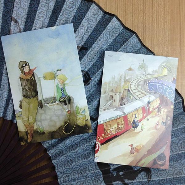 10 Little Prince Patrón pintado a mano The Ryhthm Of Life Juego de libros de postales / Tarjetas de felicitación surtidas / Tarjetas de cumpleaños Lot