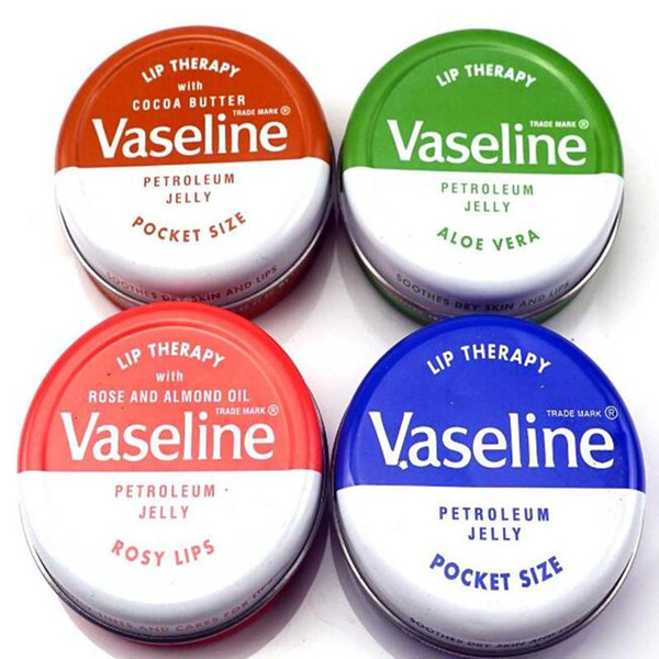 top popular 2018 Hot Makeup brand Vaseline Lip therapy cocoa butter for soft glowing rosy lips Hydrating Petroleum jelly moisturizing Lip balm lip cream 2021