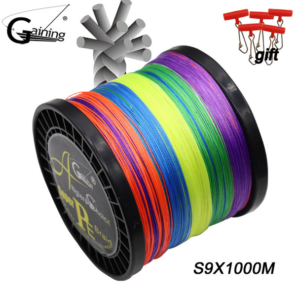 9 Strands Multifilament PE Braided Fishing Line Fishing Braided Wire 1000M Japan Material for Carp Fishing Pesca 20LB-198LB