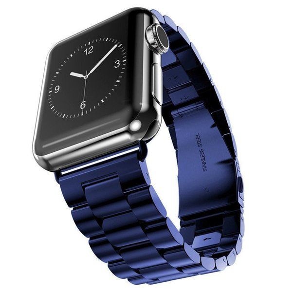 Stainless Steel Strap for iWatch 1 2 3 Apple Watch Band 38mm 42mm Watchbands Wrist Band Bracelet Accessories Sports Band with Adapter