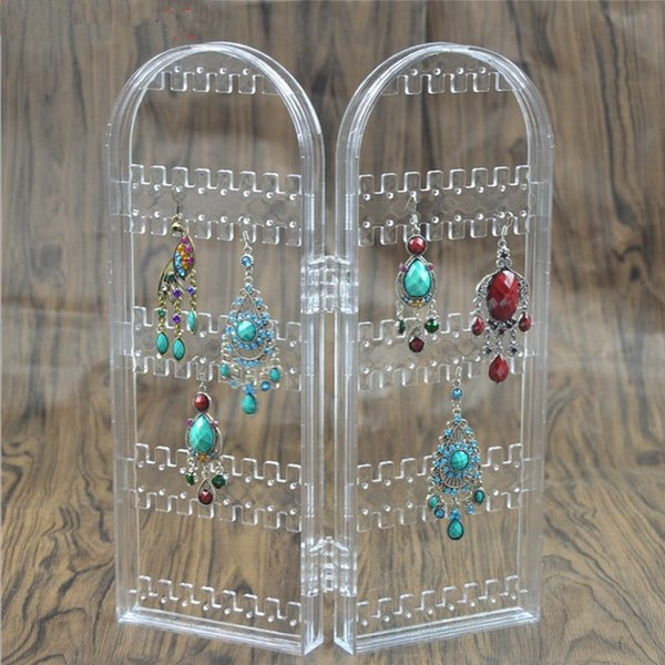 New Arrival Earring Storage Stand Plastics Jewelry Organizer Holder Jewelry Display Stand Earrings Rack Ornaments F20173118