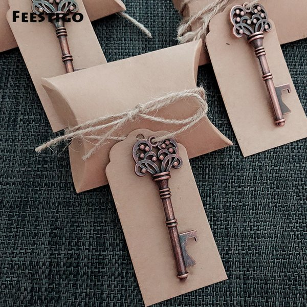 10pcs DIY Wedding Souvenirs Vintage Key Bottle Opener with Tags Wedding Favors Wedding Gifts for Guest Party Favors and Gifts