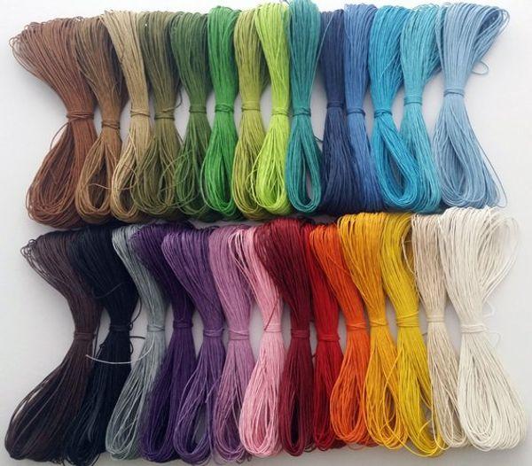 450yard / лот 1 мм 28 цветов вощеная хлопок шнур / веревка / строка, ожерелье и браслет шнур, бисероплетение шнур, ювелирные изделия DIY шнур