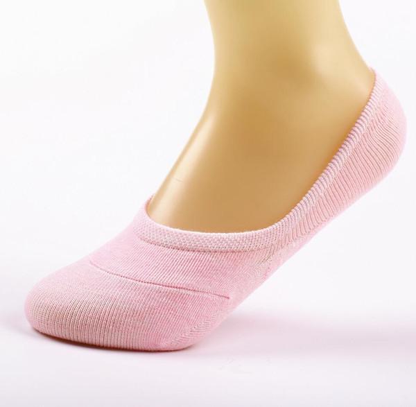 14 pz = 7 paia / lotto fibra di bambù anti-slip calzini femminili estate calze invisibile barca donne antiscivolo colori della caramella caviglia