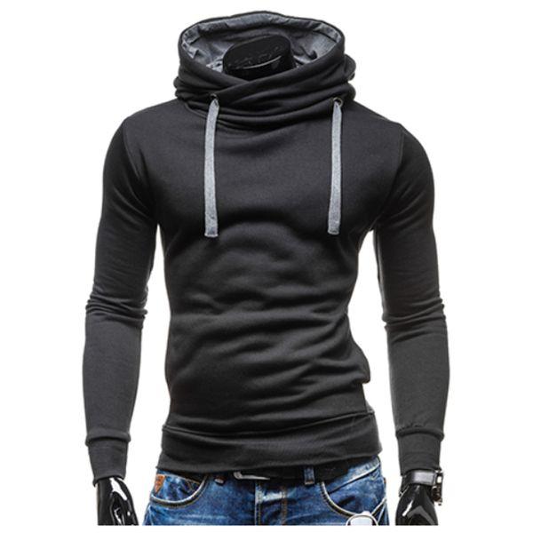 2017 Hoodies Men Sudaderas Hombre Hip Hop Mens Brand Leisure Hoodie Sweatshirt Slim Solid Color Fit Men Hoody XXL