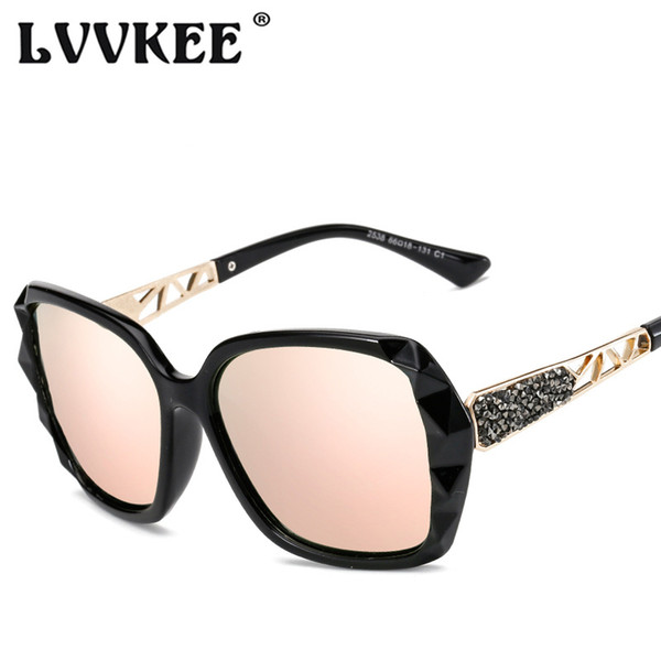 LVVKEE горячие роскошные квадратные поляризованные солнцезащитные очки дамы бренд дизайнер старинные солнцезащитные очки для женщин UV400 oculos de sol feminino