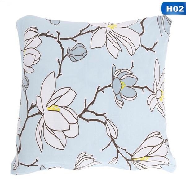 Pillow Case Beautiful Flower and Bird Polyester Fiber Pillowcase For Bedroom Chair Seat Throw Pillowcase Pillow Cover
