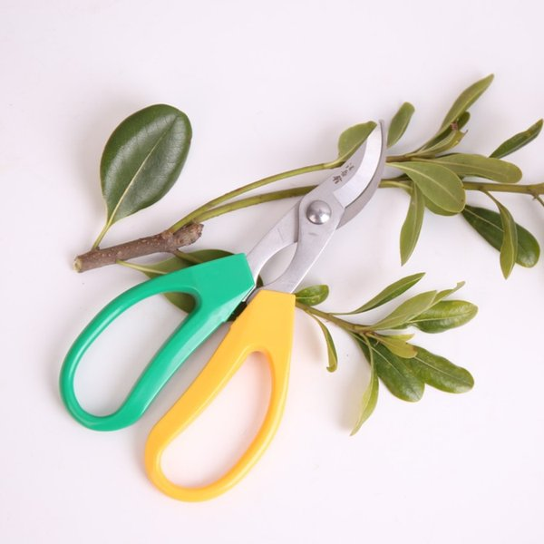 """Free shipping 7"""" garden pruning shear ABS anti slip handle 440 stainless steel bonsai scissors Tree Cutter Home tools"""
