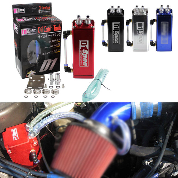 top popular RASTP -Universal D1 Turbo Engine Square Shape Oil Catch Tank Can Reservoir Performance - Silver,Black,Red,Blue RS-OCC002 2021