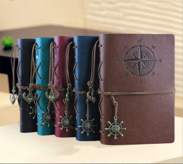 Wholesale Vintage PU Leather A6 Travel Journal Travelling Diary Book Notepads Notebook Fans Collection Best Gift For Kids Students