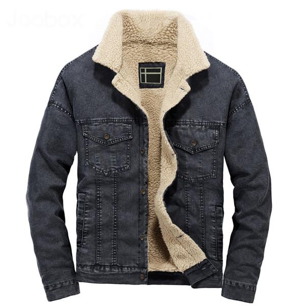 2018 New Short Black Blue Colors Jacket Jeans Uomo Thick Plus Size Cappotto invernale da uomo