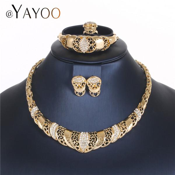 Großhandel Ayayoo Türkische Schmuck Sets Gold Farbe Mode Dubai Schmuck Sets Für Braut Frauen Hochzeit Afrikanische Perlen Schmuck Set Von Comee