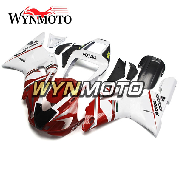 Complete Motorcycles ABS Plastics Fairings For Yamaha YZF 1000 R1 1998 1999 98 99 Bodywork Injection Body Kits White Red Free Custom-Made